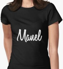 Hey Manel buy this now Women's Fitted T-Shirt