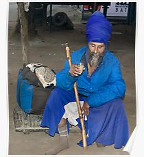 The Man in Blues-Nihang Singh Poster