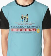 IT Crowd - Emergency Services Graphic T-Shirt