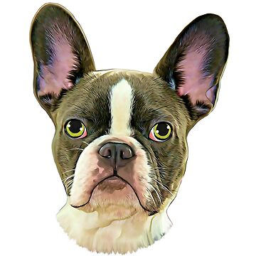 French Bulldog Oil Painting Digital Paint Portrait  by aashiarsh