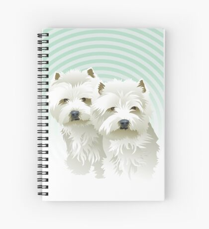 westies (mother and daughter) Spiral Notebook