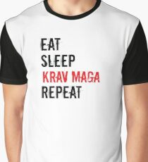 Krav Maga Design - Eat Sleep Krav Maga Repeat Graphic T-Shirt