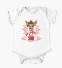 Matching Christmas Reindeer Gifts for Son One Piece - Short Sleeve
