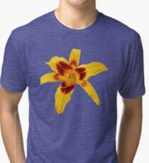 'Yellow Daylily' Tri-blend T-Shirt