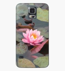 Pink Water Lily Case/Skin for Samsung Galaxy