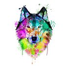 «Acuarela de lobo, pintura de lobo, retrato de lobo, arte de lobo, ilustración de lobo» de RomanDigitalArt