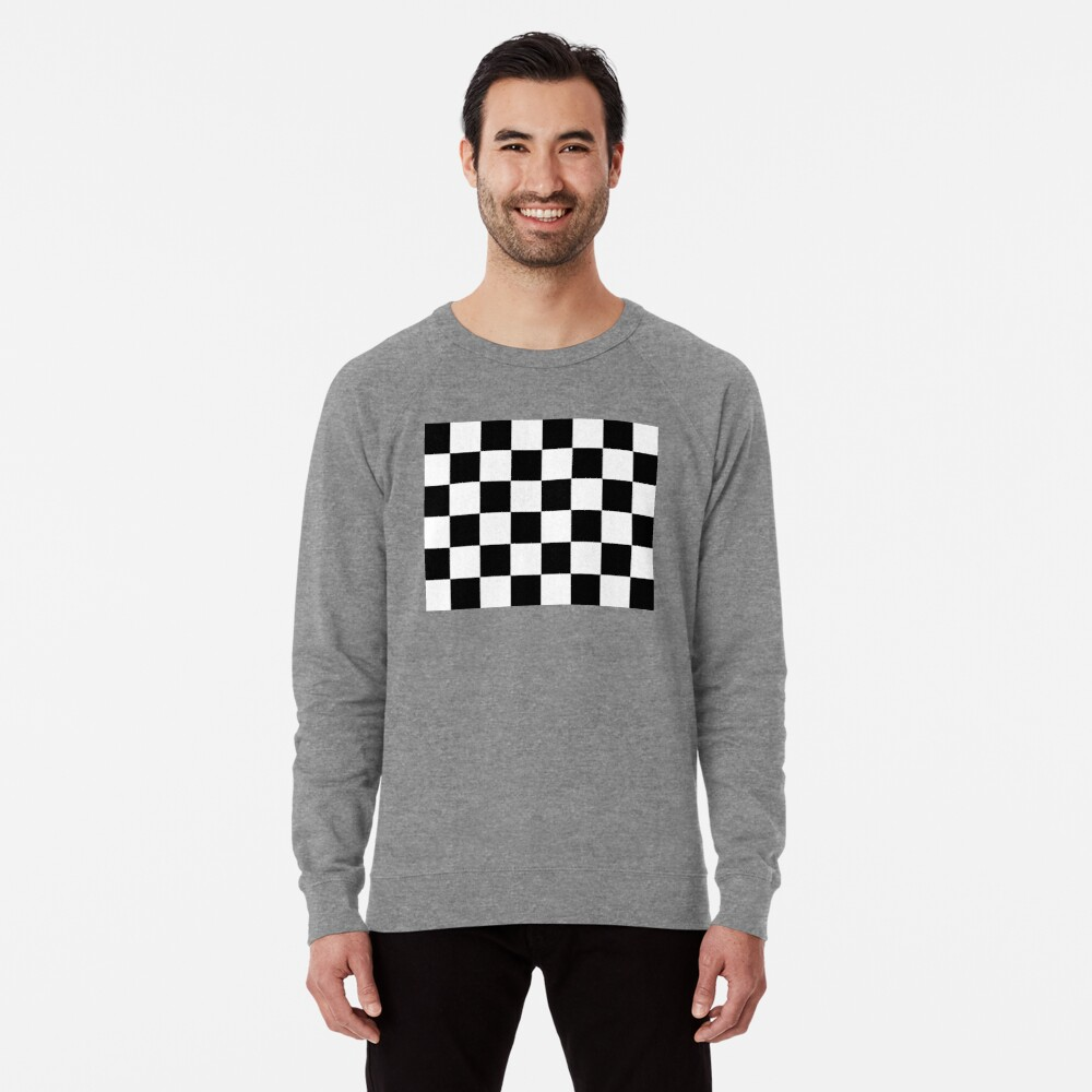 Checkered Flag, Chequered Flag, Motor Sport, Checkerboard, Pattern, WIN, WINNER,  Racing Cars, Race, Finish line, BLACK Lightweight Sweatshirt
