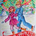 Christmas skaters  by Francesca Romana Brogani