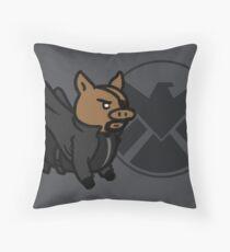 Pig Fury Throw Pillow