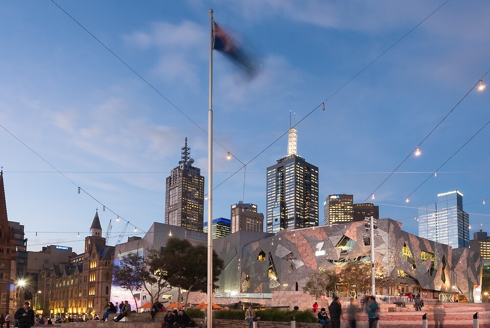 Federation Square by Mark Eden
