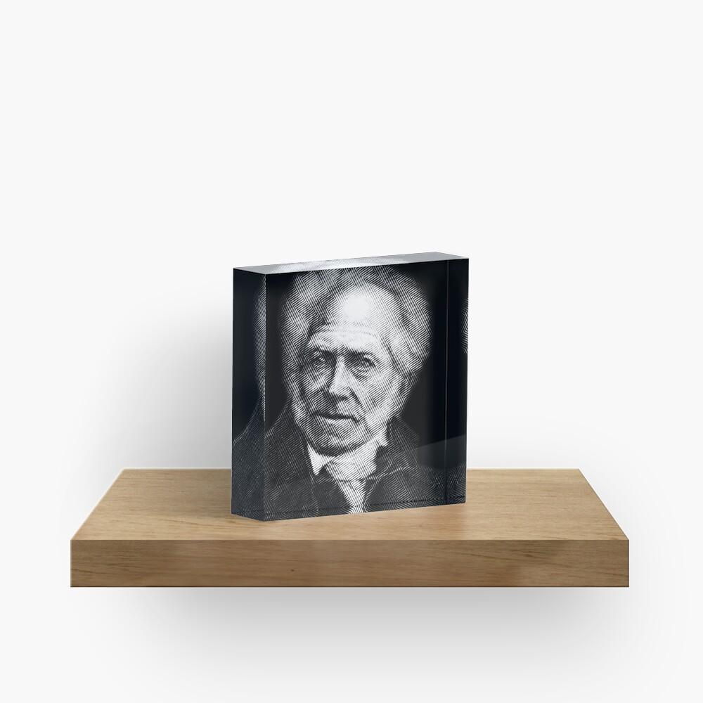 Arthur Schopenhauer Acrylic Block