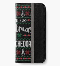 All I Want For Christmas Is Vermont Cheddar Ugly Christmas Sweater iPhone Wallet/Case/Skin