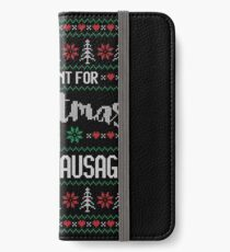 All I Want For Christmas Is Vienna Sausage Ugly Christmas Sweater iPhone Wallet/Case/Skin