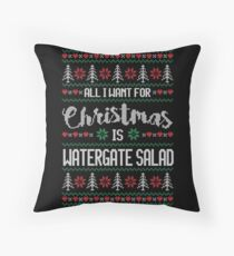All I Want For Christmas Is Watergate Salad Ugly Christmas Sweater Throw Pillow