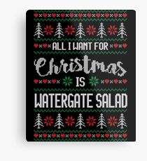 All I Want For Christmas Is Watergate Salad Ugly Christmas Sweater Metal Print
