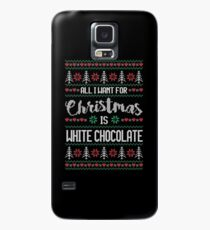 All I Want For Christmas Is White Chocolate Ugly Christmas Sweater Case/Skin for Samsung Galaxy