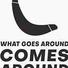 « Ce qui se passe vient autour du tee-shirt Boomerang drôle » par artvia