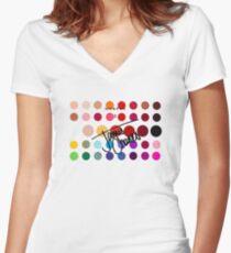 James Charles x Morphe Palette Women's Fitted V-Neck T-Shirt