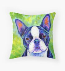 Colorful Boston Terrier Dog Floor Pillow