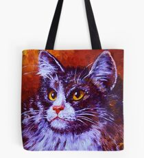 Longhair Cat Tote Bag