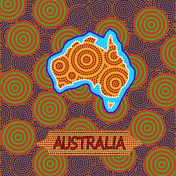 Australian dot art by denip