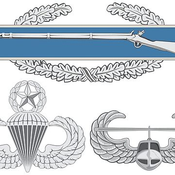 Combat Infantry Badge (CIB) Airborne Master Air Assault by jcmeyer
