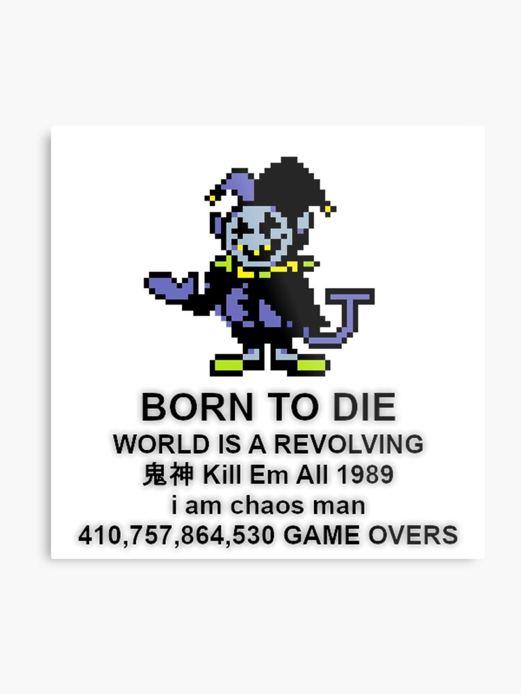 Jevil Born to Die Deltarune | Metal Print