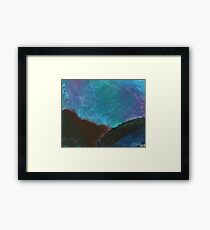 River in the Mountains Framed Print