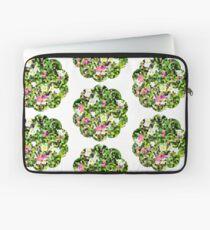 Fleur vitrail #1 Housse de laptop