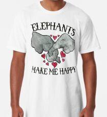 Elefanten machen mich glücklich Longshirt