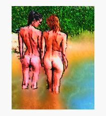 Just taking a stroll, enjoying the beauty, loving life Photographic Print