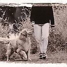 walking my dog by Klaus Bohn