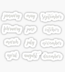BulletJournal Month Stickers - Gray Sticker
