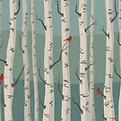 Birch Trees by MariMansfield