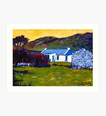 Cottage from Sheep Field Art Print