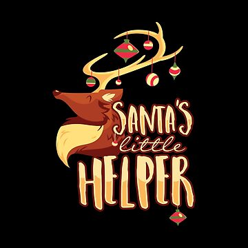 Santa Little Helper - Cute Christmas Holiday by Ding-One
