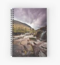 Glen Etive waterfall Spiral Notebook