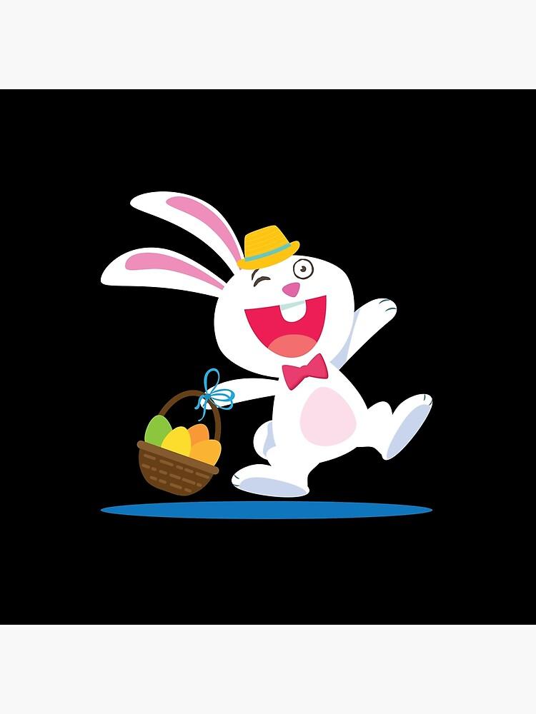 Rabbit From A Tale Walking With A Basket Cartoon de StunningDesigns