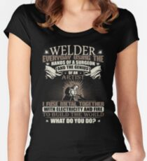 Welding Graphic Welder gift  Welding Shirt Women's Fitted Scoop T-Shirt