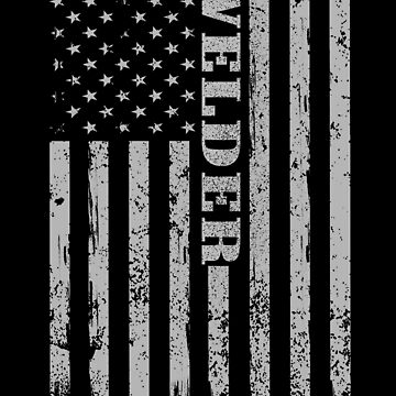 Distressed Welder Shirt with Flag by WelderSurgeon