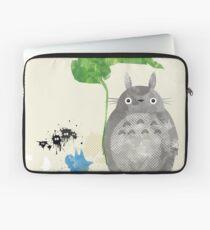 My Neighbor Totoro Giclee Vintage Digital Art  Laptop Sleeve