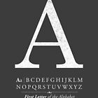 Letter A Monogram with Alphabet by Kelsorian
