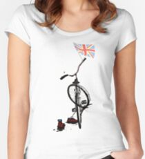 Union Jack II Women's Fitted Scoop T-Shirt