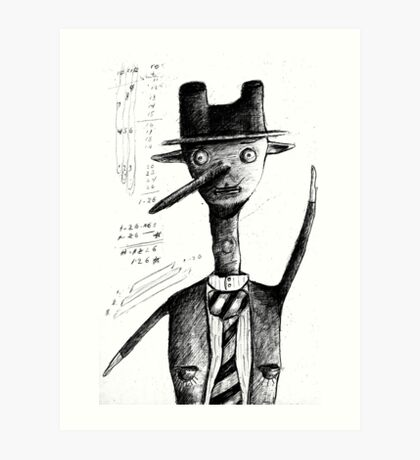 the professor Art Print