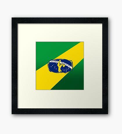 lets dance brazilian zouk flag color design Framed Print