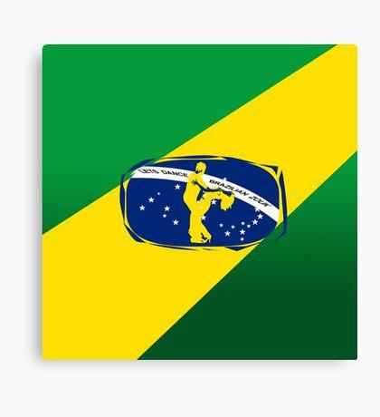 lets dance brazilian zouk flag color design Canvas Print