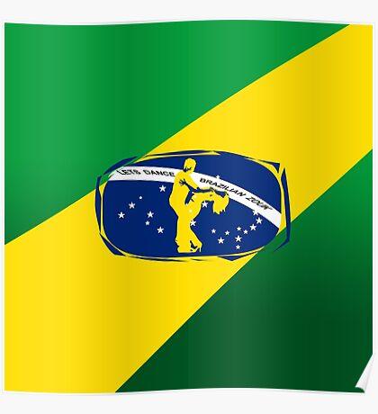 lets dance brazilian zouk flag color design Poster