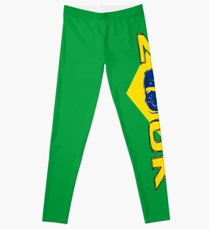 lets dance brazilian zouk flag color design Leggings
