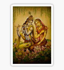 The nectar of Krishnas flute Sticker