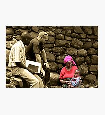 Aid Worker Photographic Print